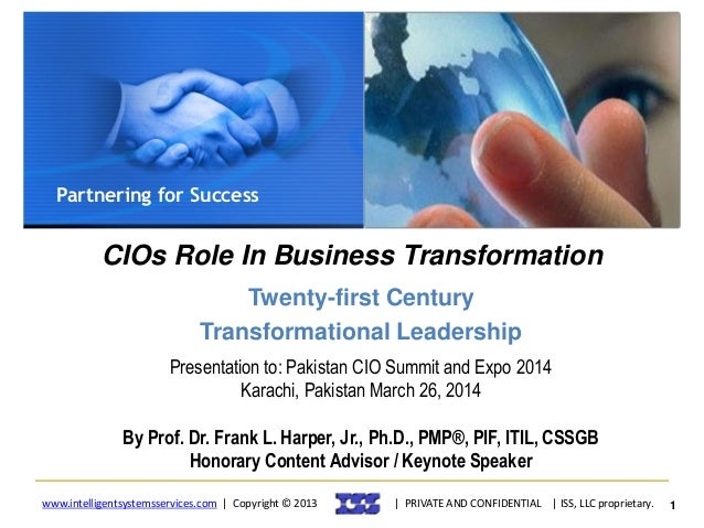 Dr. Frank Harper Jr. - Pakistan CIO Summit Keynotes