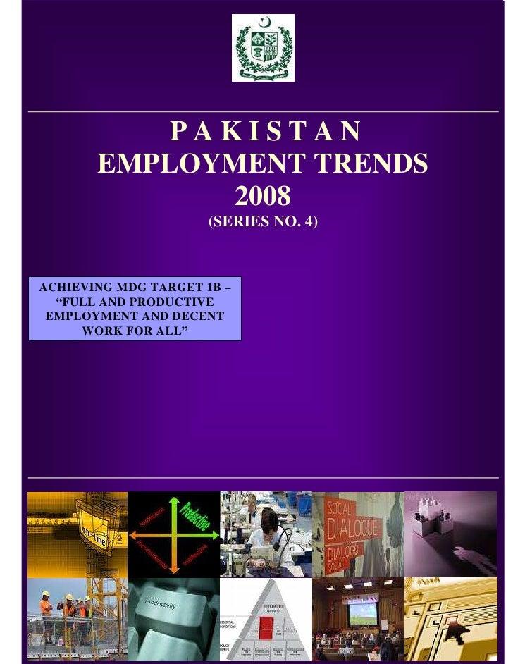 Pakistan Emoployment Trends 2008