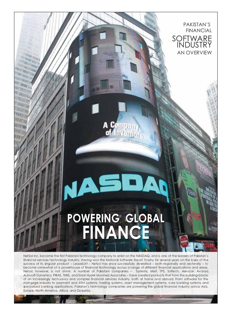 Powering Global Finance: Pakistan's Financial Services IT Industry - 2011