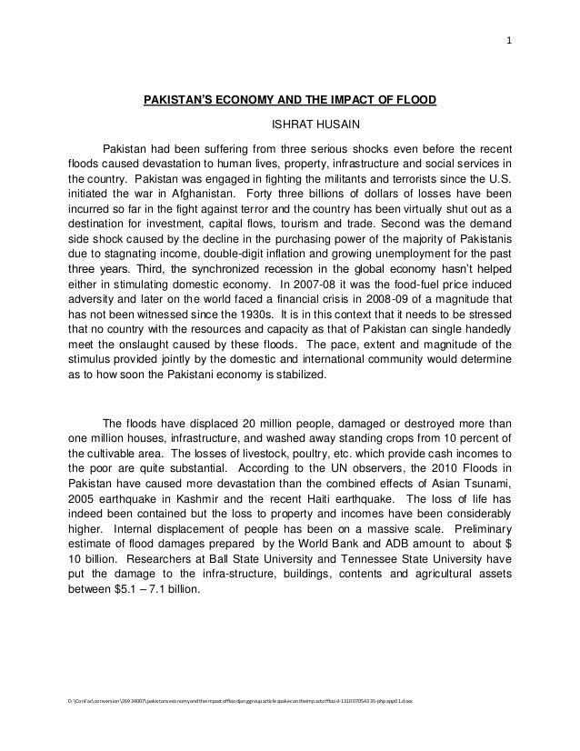 Pakistan's economy and the impact of flood jang group articles_pak_eco_n_the_impact_of_flood