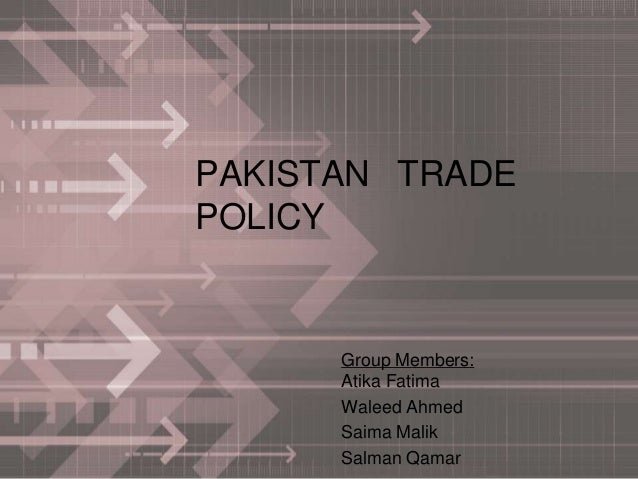 Pakistan trade policy