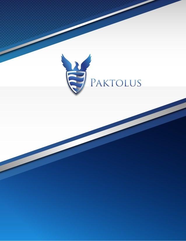 Paktolus Brochure - Web Design Development