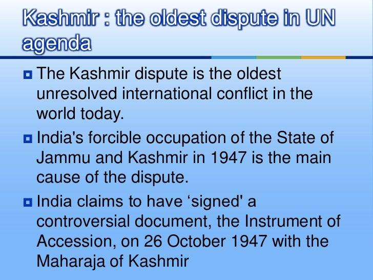 background of the kashmir conflict essay Historical background to the kashmir sub-conflict and its resolution the sub conflict over jammu and kashmir is the nucleus of all problems between india and pakistan.