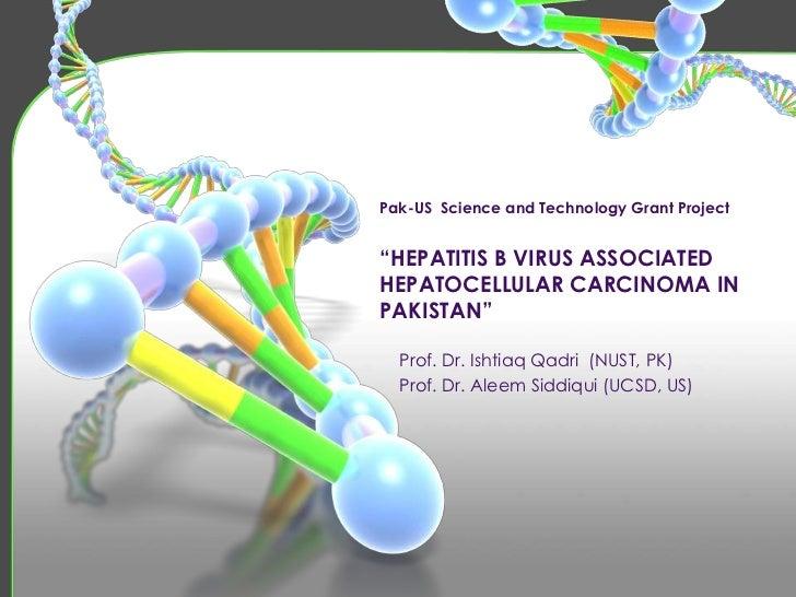 "Pak-US  Science and Technology Grant Project""HEPATITIS B VIRUS ASSOCIATED  HEPATOCELLULAR CARCINOMA IN PAKISTAN""<br />Prof..."