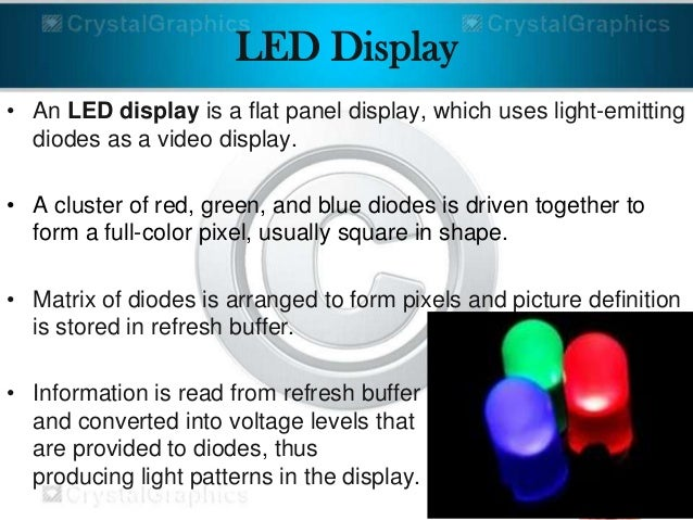 Video Display Devices Diodes as a Video Display