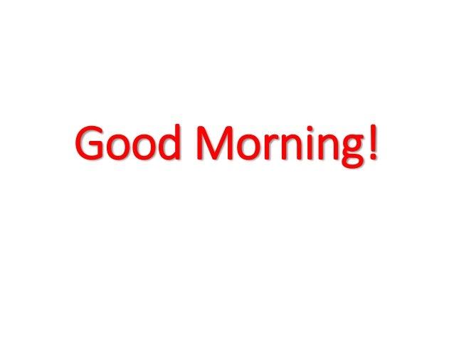 Good Morning Everyone In Tagalog :