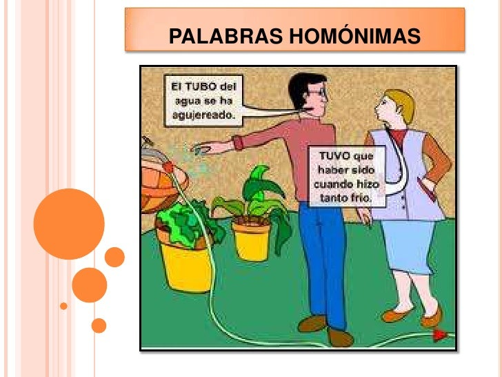 PALABRAS HOMÓNIMAS <br />