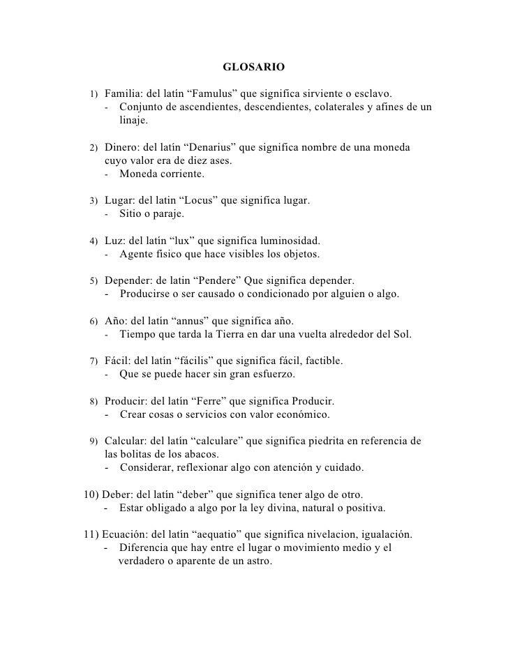 Palabras latin