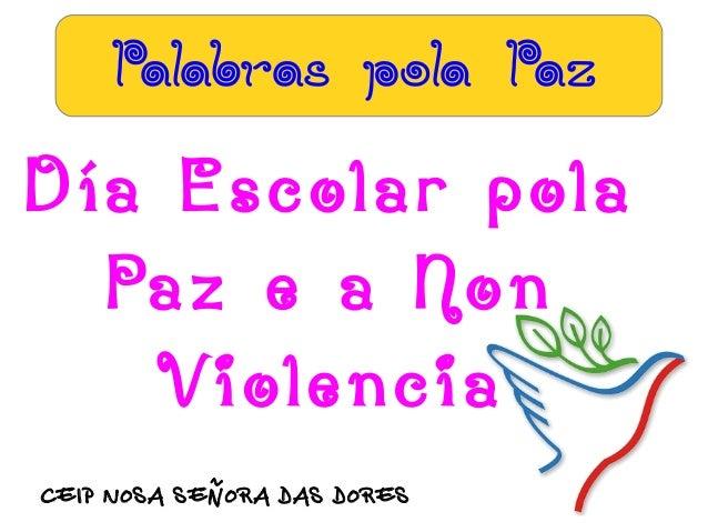 Palabras pola paz
