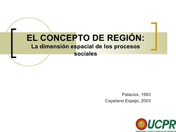 El concepto de región