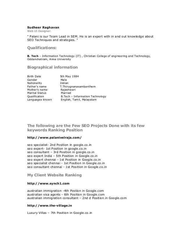Ppc manager resume