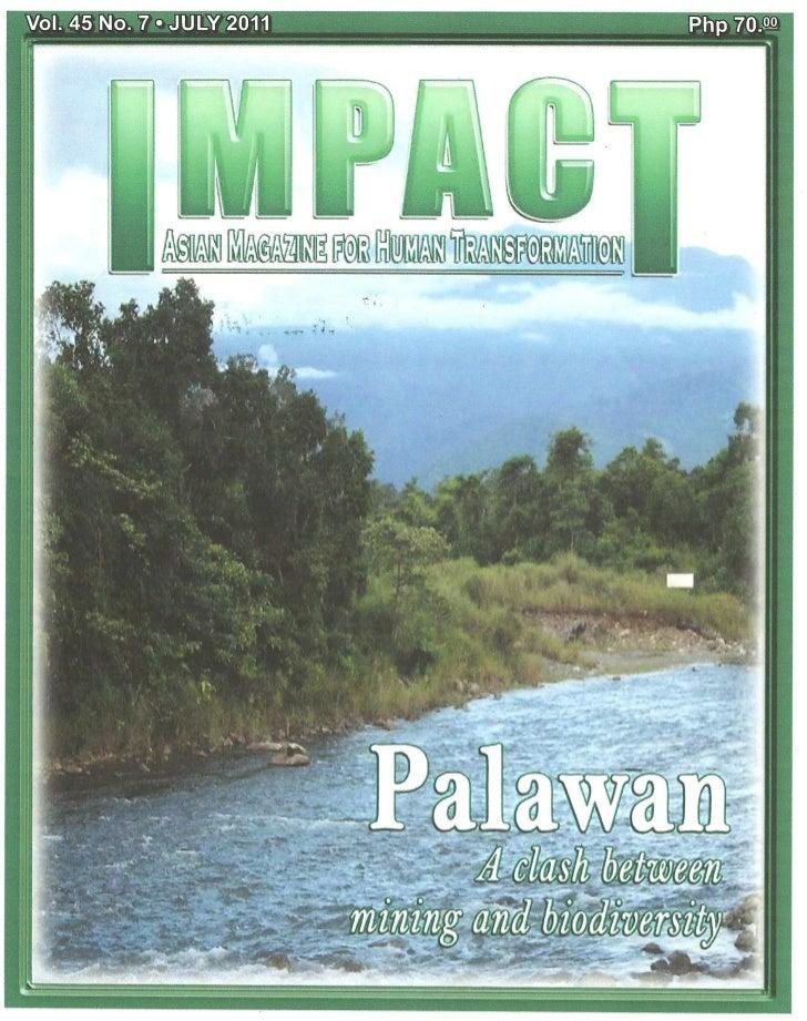 Palawan case study in Impact Magazine July 2011