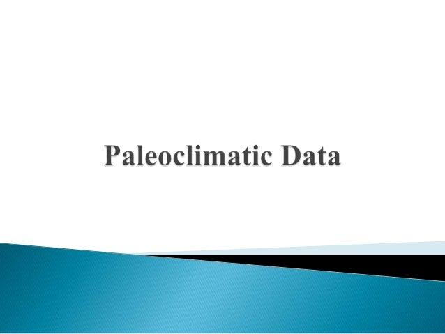 Paleoclimatic data