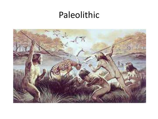 neolithic and paleolithic era The palaeolithic age began with our first ancestors and finished about  the  stone age into two main periods: the paleolithic period and the neolithic period.
