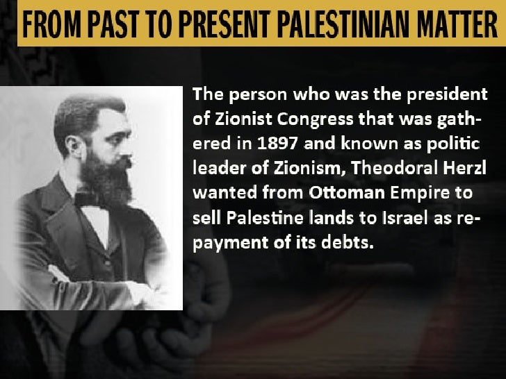FROM PAST TO PRESENT PALESTINIAN MATTER
