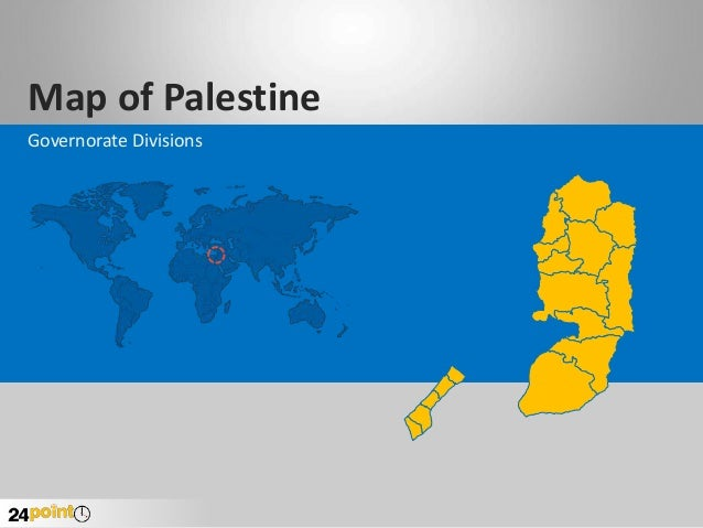 Palestine Map - Editable PowerPoint Slides