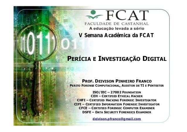Palestra Sobre Perícia e Investigação Digital
