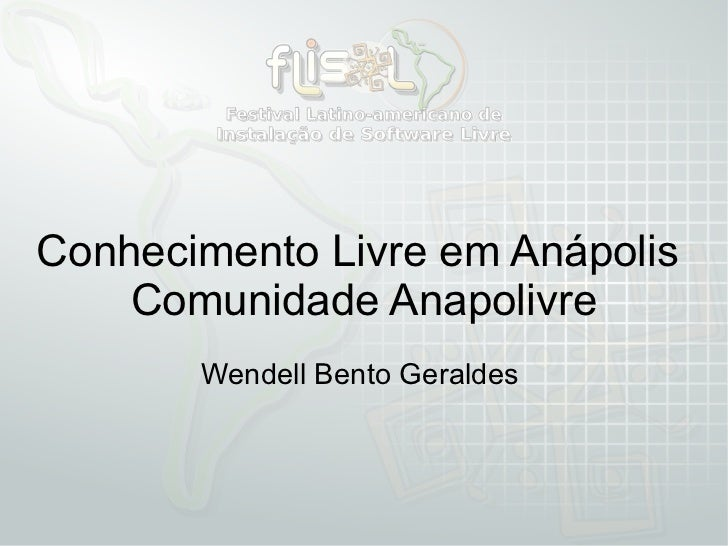 Palestra Anapolivre