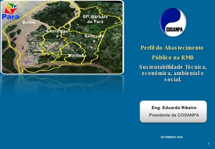 Stª. Bárbara do Pará Benevides Belém Marituba Ananindeua Perfil do Abastecimento  Público na RMB Sustentabilidade Técnica,...