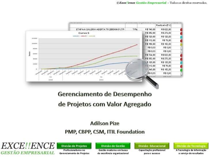 ©Exce!!ence Gestão Empresarial – Todos os direitos reservados. Divisão de Projetos           Divisão de Gestão           D...