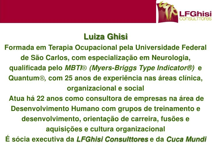 Palestra - Planejamento de Carreiras para os Novos Tempos - Luiza Ghisi