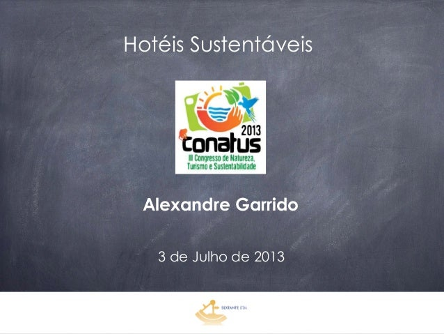 Hotéis Sustentáveis – Alexandre Garrido