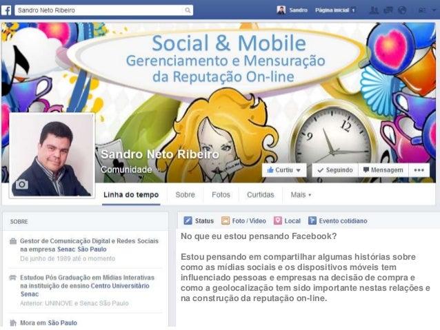 No que eu estou pensando Facebook? Estou pensando em compartilhar algumas histórias sobre como as mídias sociais e os disp...