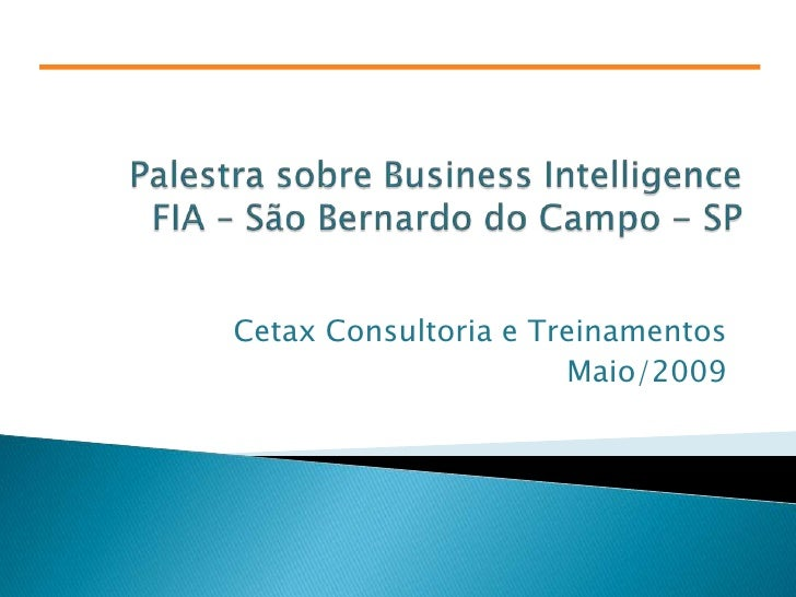 Business Intelligence - Palestra