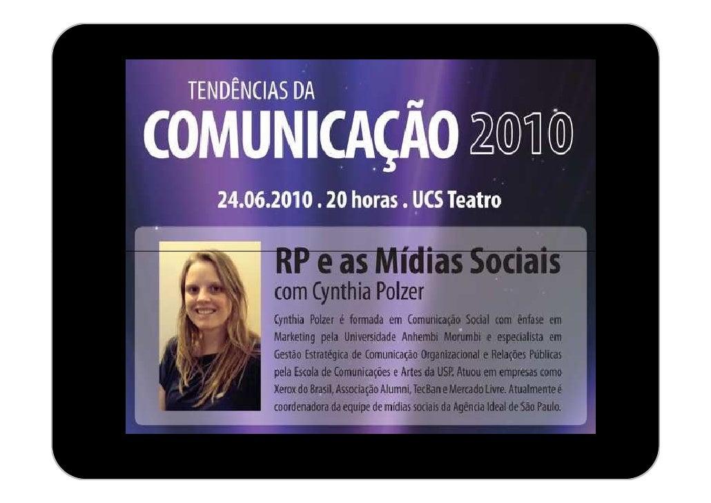 RP e as Mídias Sociais