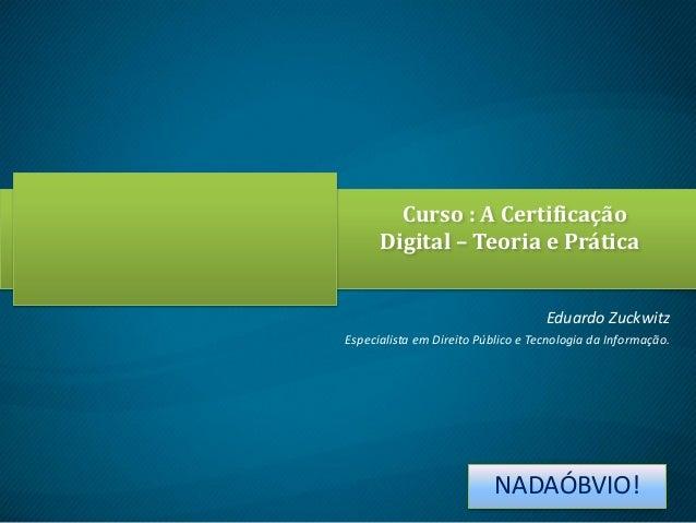 Palestra Certificação Digital