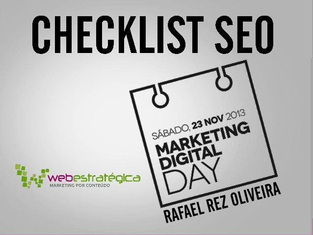 Checklist SEO - Marketing Digital Day