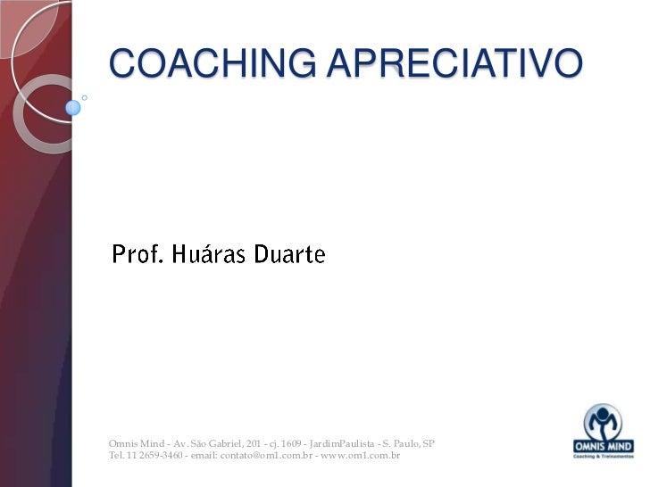Coaching Apreciativo   Palestra
