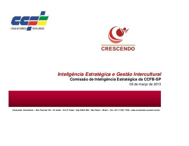 Inteligência Estratégica e Gestão Intercultural                                                            Comissão de Int...