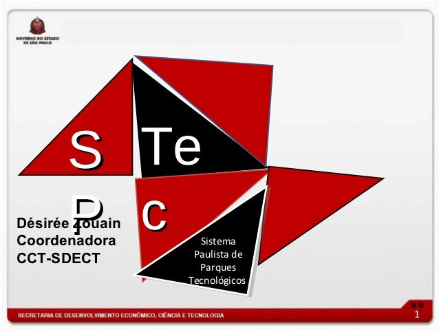S          Te      PDésirée ZouainCoordenadora                 c  Sistema                   Paulista deCCT-SDECT          ...
