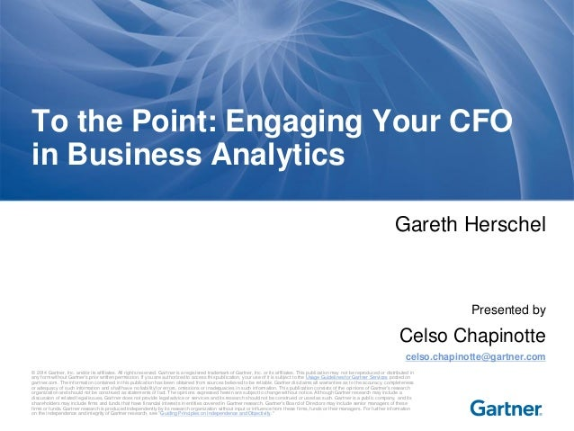 Engaging Your CFO in Business Analytics  | Palestrante: Celso Chapinotte