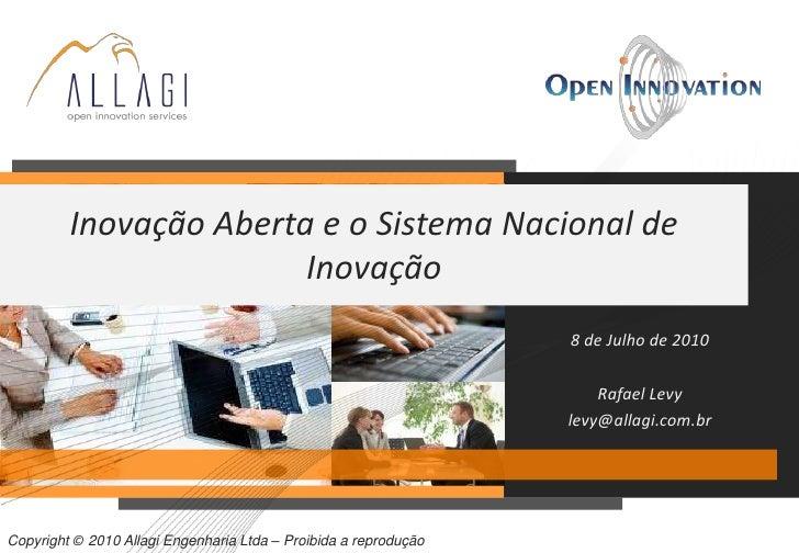 Inovação Aberta e o Sistema Nacional de                         Inovação                                                  ...