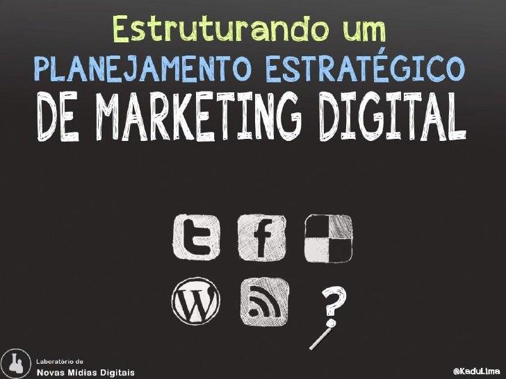 Palestra planejamento em Marketing Digital