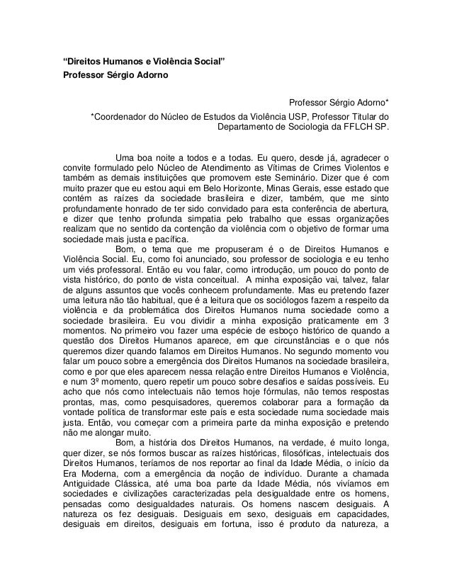 Palestra Prof. Sérgio Adorno