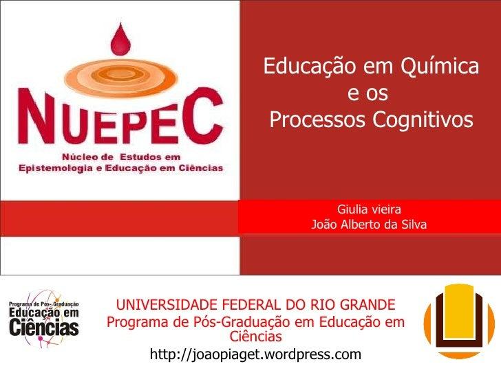Educação em Química e os  Processos Cognitivos UNIVERSIDADE FEDERAL DO RIO GRANDE Programa de Pós-Graduação em Educação em...