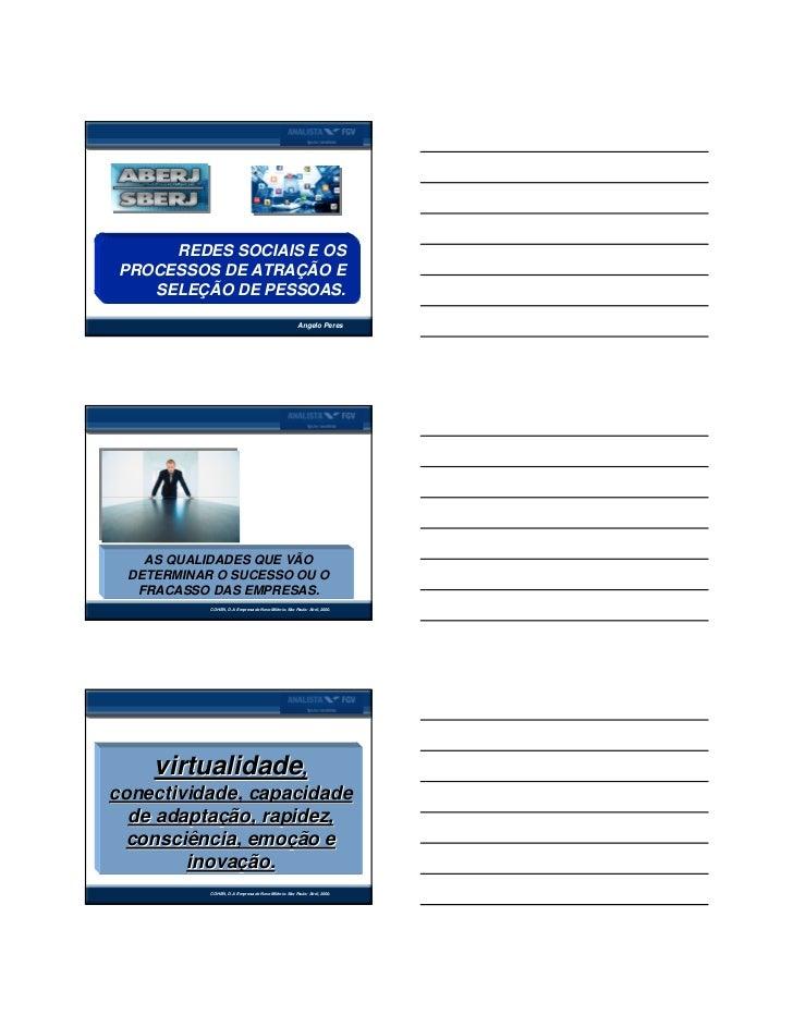 Palestra redes sociais aberj novembro 2011