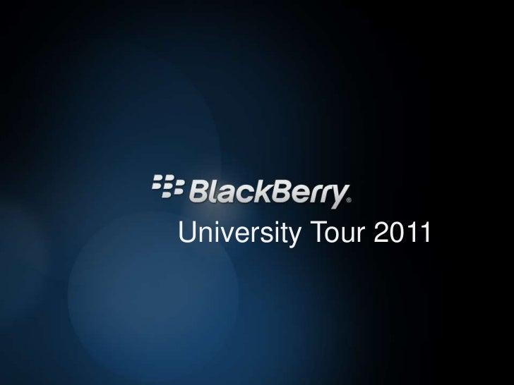 Palestra Blackberry University Tour