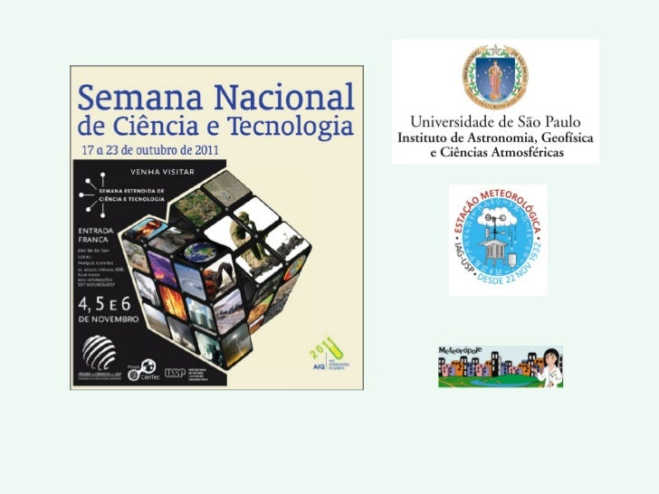 Palestra sobre meteorologia da Semana Estendida de Ciência e Tecnologia