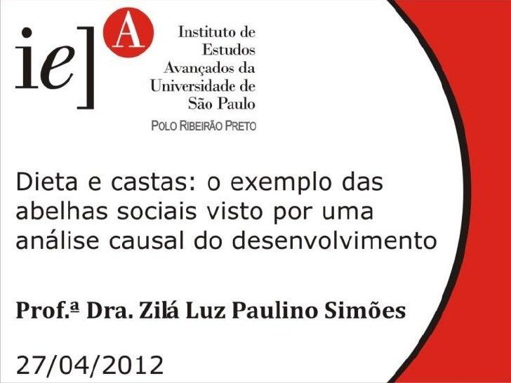 Dieta e castas: o exemplo das abelhas sociais   Faculdade de Filosofia Ciências e Letras de Ribeirão Preto   Laboratório d...