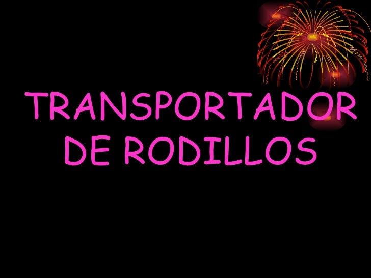 TRANSPORTADOR DE RODILLOS