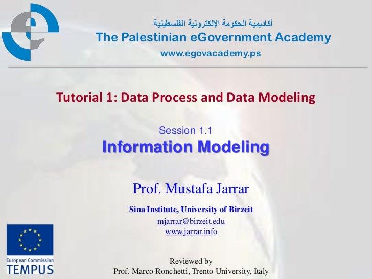 Pal gov.tutorial1.session1 1.informationmodeling
