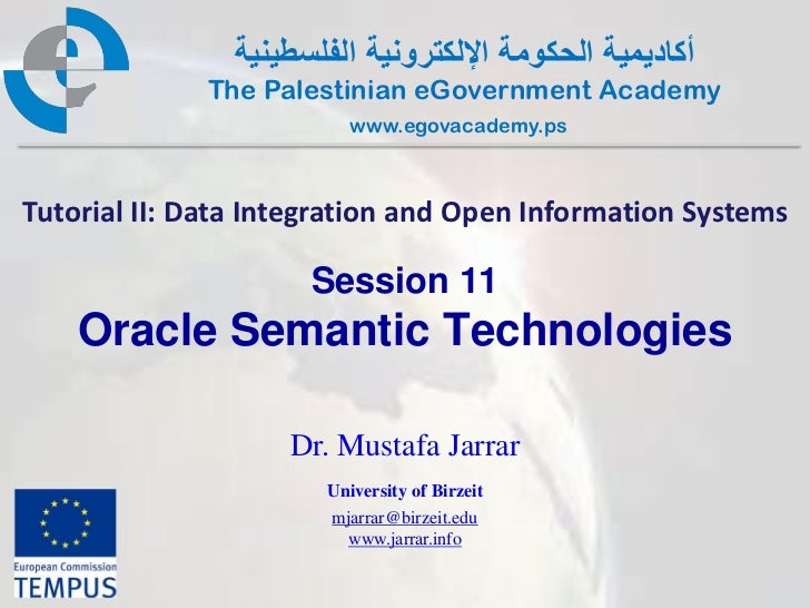 Pal gov.tutorial2.session11.oracle
