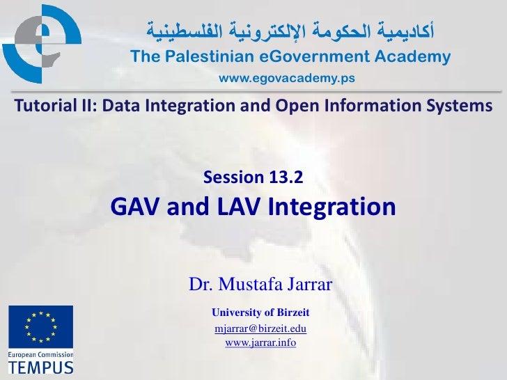 Pal gov.tutorial2.session13 2.gav and lav integration