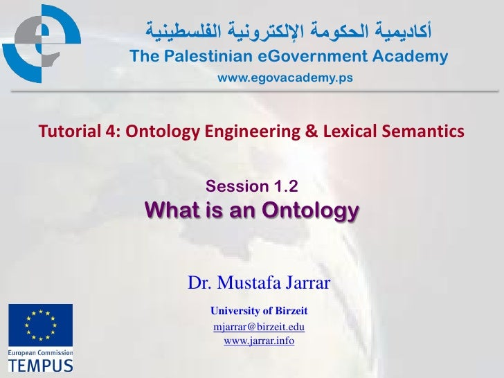 Pal gov.tutorial4.session1 2.whatisontology