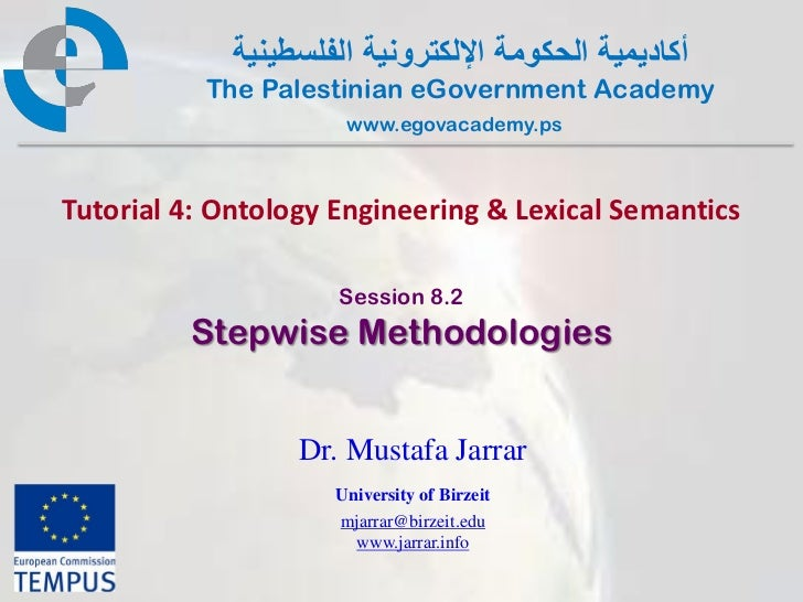 Pal gov.tutorial4.session8 2.stepwisemethodologies