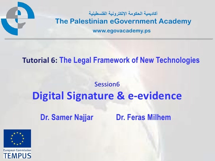 Pal gov.tutorial6.session6.digital signature & e evidence